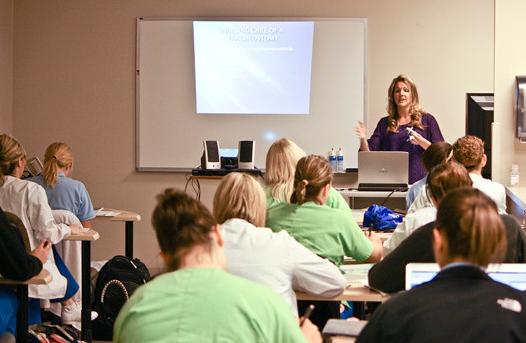 A nursing class
